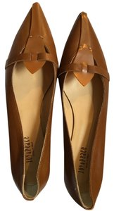Joy & Peace Pointy Toe Kitten Heel Camel Flats
