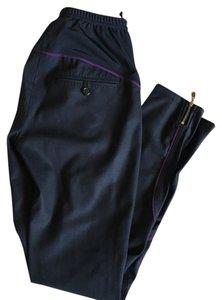 Louis Vuitton Logo Lv Skinny Pants Purple, Gold, black