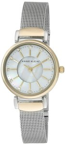 Anne Klein Anne Klein Women's Two-Tone Stainless Steel Swarovski Crystal Accented Mesh Bracelet Watch 28mm AK-2203MPTT
