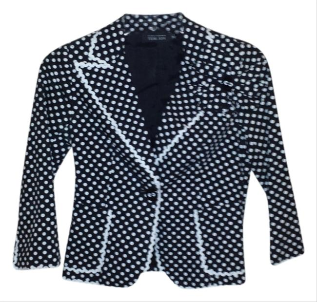 Teri Jon black and white Blazer