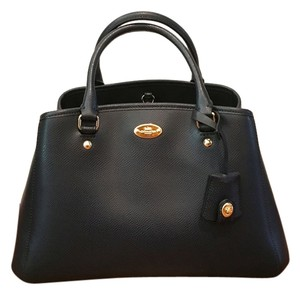 Coach Leather Blue New Tote in Midnight