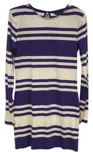 French Connection short dress Purple, White on Tradesy