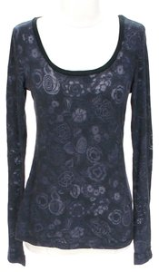 C&C California Scoop Neck Jacquard Floral Tunic