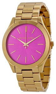 Michael Kors Michael Kors Purple Dial Gold Tone Stainless Steel Ladies Watch