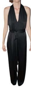Halston Jumpsuit Halter Knit Dress