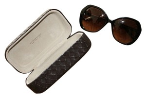 Bottega Veneta Large Oval / Hexagon Black Bottega Veneta Sunglasses NWT