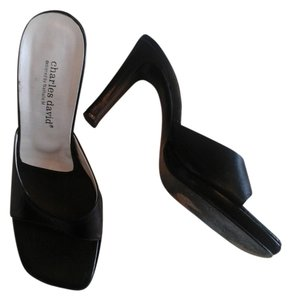 Charles David Black leather Sandals