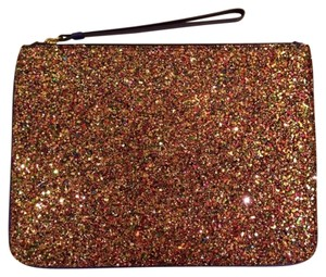 J.Crew Glitter Casual Orange Red Clutch