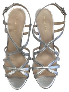 Pelle Moda Strappy Sandals Evening Sandals Evening Silver Formal