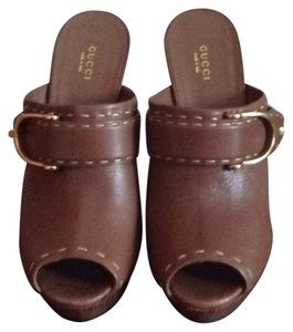 Gucci Brown Mules