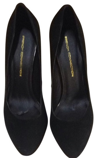 French Connection Black Suede Pointy Formal Pumps