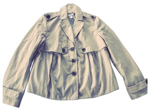 Ann Taylor LOFT Swing Trench Tan Jacket
