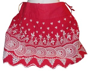 Rue 21 Mini Skirt Red and White