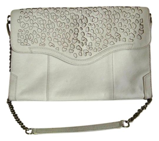 Rebecca Minkoff Leather Perforated Chain Envelope Classic Animal Durable Classy Shoulder Bag