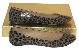 6bfc2295081e J.Crew Gray Patent with Black/Brown Leopard Print Flats