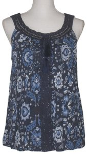 Lucky Brand Top Blue Multi