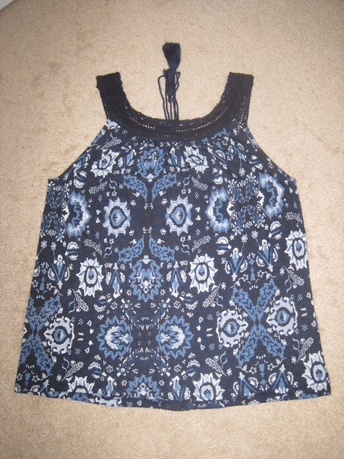 Lucky Brand Top Blue Multi Image 10