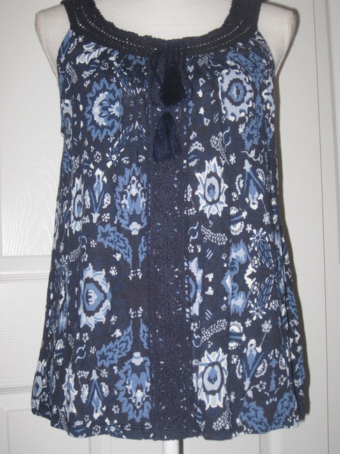 Lucky Brand Top Blue Multi Image 2