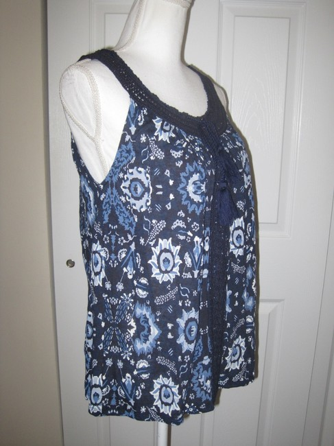Lucky Brand Top Blue Multi Image 4