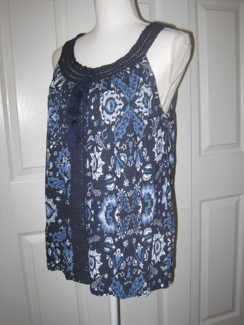 Lucky Brand Top Blue Multi Image 5