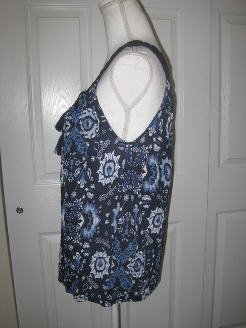 Lucky Brand Top Blue Multi Image 6