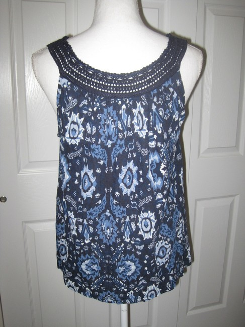 Lucky Brand Top Blue Multi Image 7