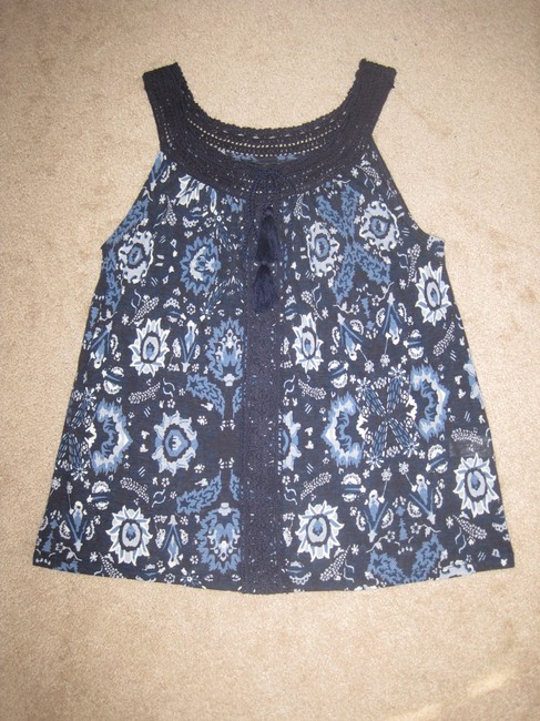 Lucky Brand Top Blue Multi Image 8