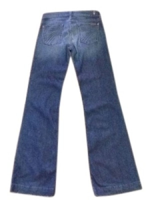 Preload https://item4.tradesy.com/images/7-for-all-mankind-blue-medium-wash-dojo-flare-leg-jeans-size-26-2-xs-14993-0-0.jpg?width=400&height=650