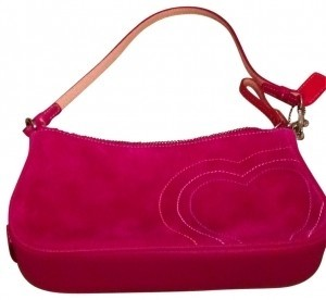 Coach Never Used Wristlet in pink suede