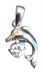 Boutique Silver Dolphin with CZ Pendant