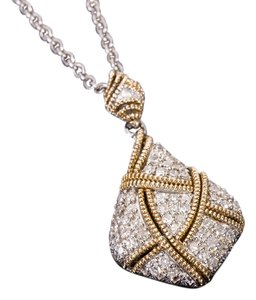 VAHAN Alwand Vahan Sterling and 14K yellow Gold Diamond Necklace
