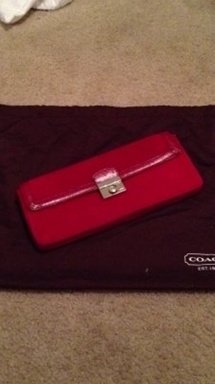 Coach Handbag Red suede and leather Clutch