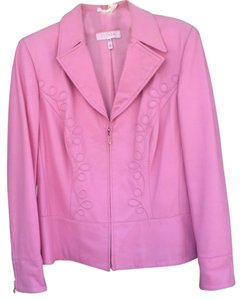 Escada Leather Vintage Pink Leather Jacket