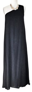 black Maxi Dress by Riller & Fount One Shoulder Flowy Summer