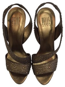 Pelle Moda High Heel Sandals Bronze Formal