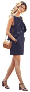 Karen Walker short dress Navy Blue Anthropologie Ruffled Denim on Tradesy