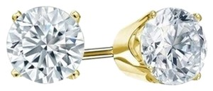 Other 0.07 ct Round Cut Diamond Stud Promo Quality In 10k Yellow Gold (J-K Color, I2 Clarity) Next Day Shipping