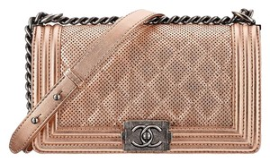 Chanel Perforated Medium Boy Shoulder Bag