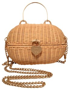 Chanel Wicker Wicker Basket Basket Shoulder Bag