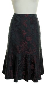 Ann Taylor Hem Skirt Black Red