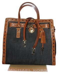 Michael Kors Satchel in Walnut & Denim