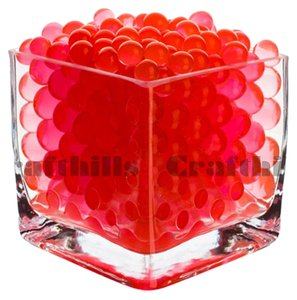 100g Red Water Bead Make 2.5 Gallons Water Jelly Crystal Gel Ball For Wedding Party Home Floral Eiffel Tower Centerpiece