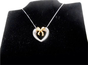Tiffany & Co. Tiffany &Co 18k Gold And Sterling Silver Heart Necklace