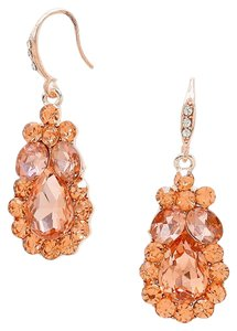 Other Rhinestone Crystal Teardrop Rose Gold Peach Earrings