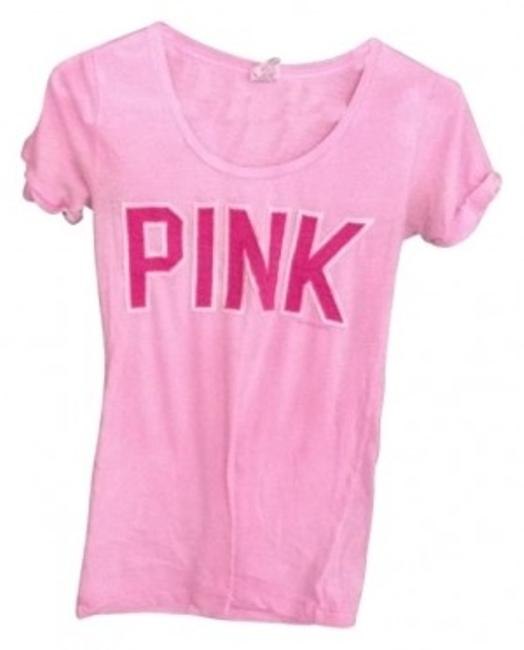 Preload https://item3.tradesy.com/images/victoria-s-secret-pink-sewn-graphic-tee-shirt-size-2-xs-14997-0-0.jpg?width=400&height=650