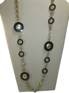 Lia Sophia Lia Sophia kiam family long gold and black necklace