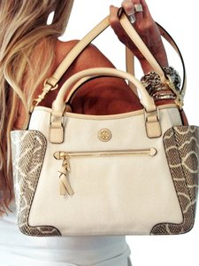 Tory Burch Satchel in Natural Snake