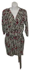 Laundry by Shelli Segal Print Tie Casual Dress