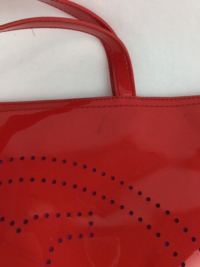 Tory Burch Handbag Perforated Tote in Red