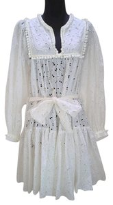Hollywould short dress white Eyelet Loose Fit Bohemian on Tradesy